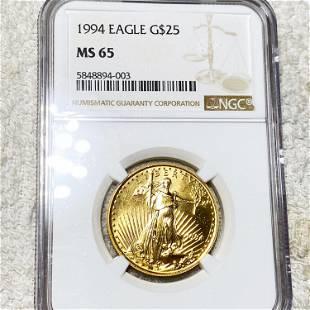 1994 $25 Gold Eagle NGC - MS65