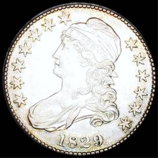 1829 Capped Bust Half Dollar CLOSELY UNC