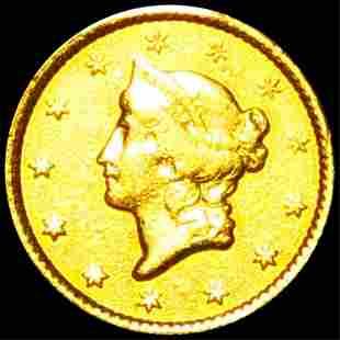 1849 Rare Gold Dollar LIGHT CIRC