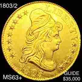 1803/2 $5 Gold Half Eagle CHOICE BU