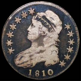 1810 Capped Bust Half Dollar NICELY CIRCULATED