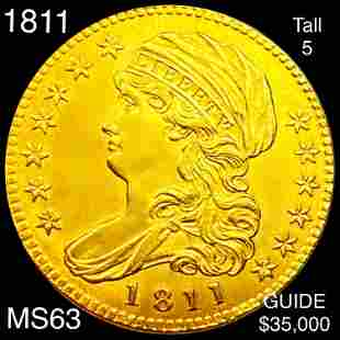 1811 $5 Gold Half Eagle CHOICE BU TALL 5