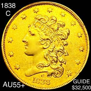 1838-C $2.50 Gold Quarter Eagle CHOICE AU