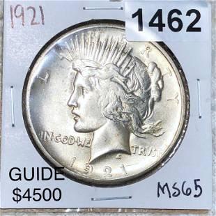1921 Silver Peace Dollar GEM BU