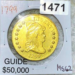 1799 $10 Gold Eagle UNCIRCULATED