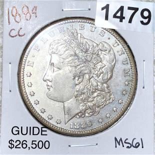 1889-CC Morgan Silver Dollar UNCIRCULATED