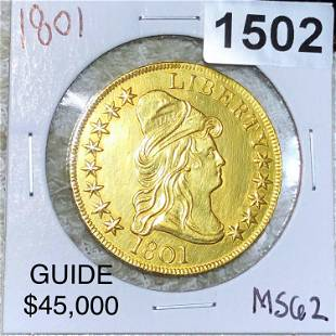 1801 $10 Gold Eagle UNCIRCULATED