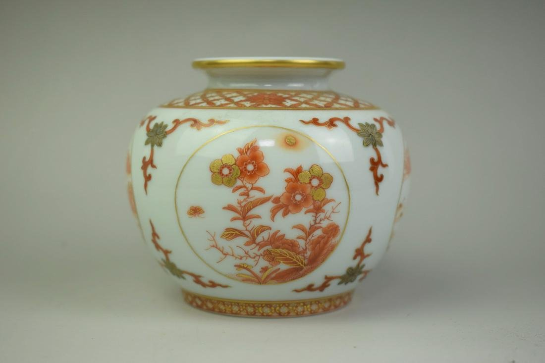 A Chinese Iron Red Porcelain Jar
