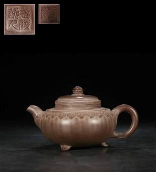 A Zisha Teapot, Gu Jing Zhou Mark