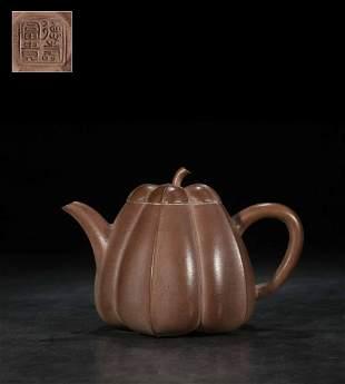 A Zisha Teapot, De Shou Fu Gui Mark