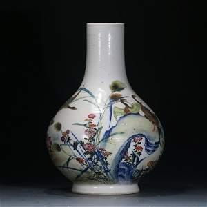 A Porcelain Famille Rose Vase