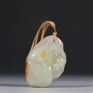 Hetian Jade Seed Gourd Pendant