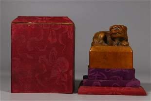 A Santalum Album Lion Seal