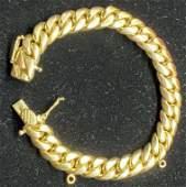 18 K BRACELET 2.75 OUNCE HANDMADE GOLD CUBAN LINK