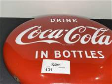 """24"""" COCA COLA RED BUTTON NICE CONDITION VERY NICE"""