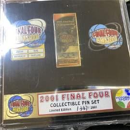 LOT 10 SETS 2001 FINAL FOUR PIN SETS