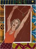 Emma Amos, b. 1934, On Top of the World