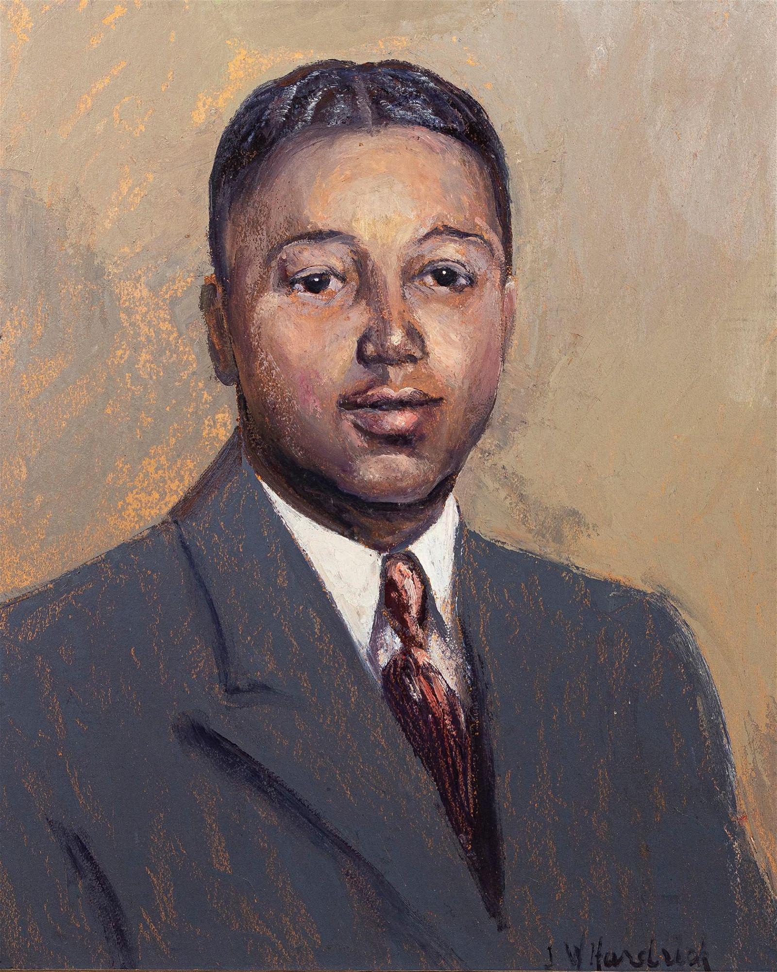 John Wesley Hardrick, 1891-1968, Portrait of a Man