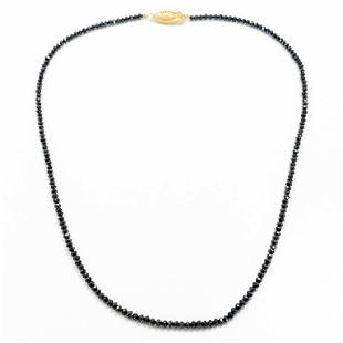 15 Carat Black Diamond Strand Necklace