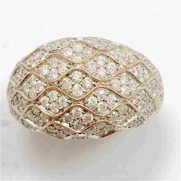 1.5+ Carat Diamond & 14k Rose Gold Dome Ring