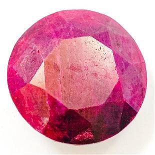 Appraised & Cert 361.2 CT Round Cut Natural Ruby