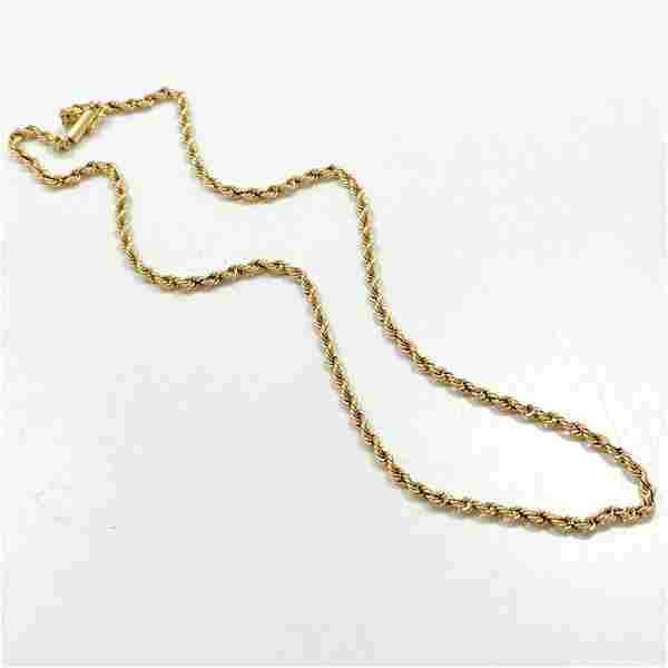 """18"""" Rope Link 14k Yellow Gold Chain"""