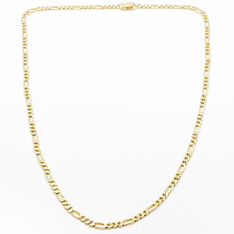 "22"" Figaro Link 14k Yellow Gold Chain"