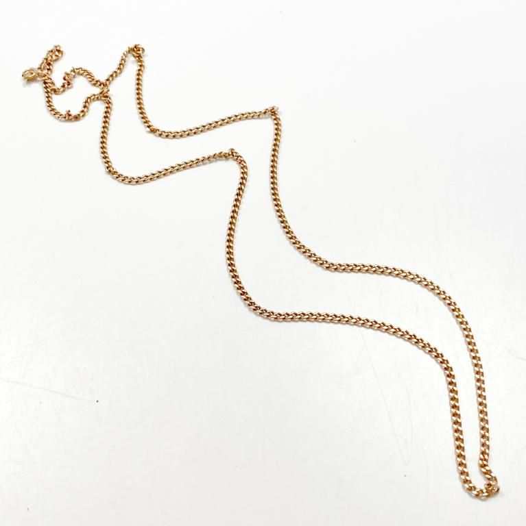"""26"""" Curb Link 10k Rose Gold Chain"""