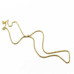 """20"""" Rope Link 14k Yellow Gold Chain"""