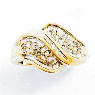 Diamond & 10k Gold Cocktail Ring