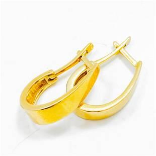 Polished 14k Yellow Gold Hoop Earrings