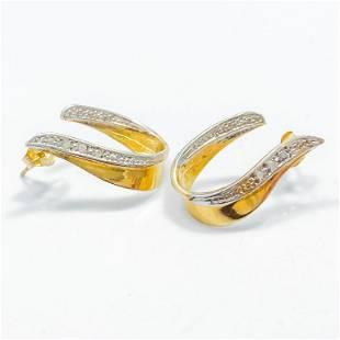 Diamond & 14k Yellow Gold Earrings