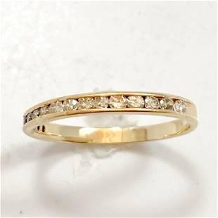 1/2 Carat Diamond & 14k Yellow Gold Band Ring