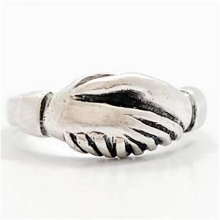 JAMES AVERY Sterling Silver Handshake Ring