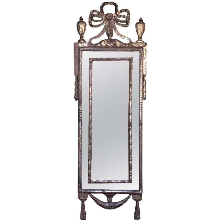 18th C Italian Silver Leaf Mirror