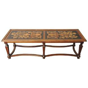 Italian Coffee Table Made from 19th C Panels
