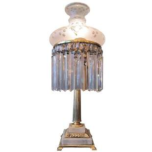 th Century Sinumbra Colonial Revival Brass Lamp