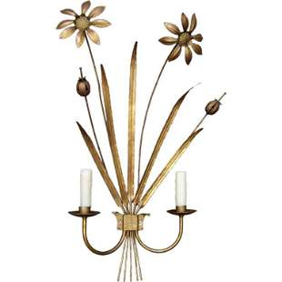 Gilded Tole Sconce