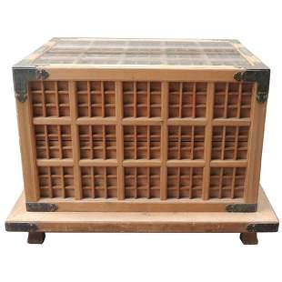 19th C Japanese Pine Ceremonial Saki Box