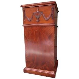 19th Century English Regency Mahogany Pedestal Cabinet