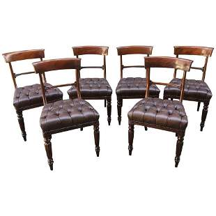 19th Century Set of Six American Mahogany Chairs