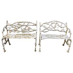 Late 19th Century American Cast Iron Garden Benches