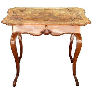 18th Century, French Provincial Marquetry Table