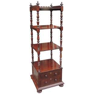 19th C English Regency Mahogany Library Stand