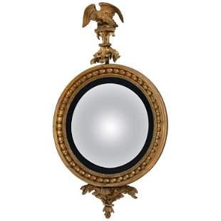 19th Century English Regency Convex Mirror