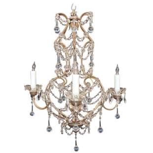 Early 20th Century Venetian Crystal Chandelier