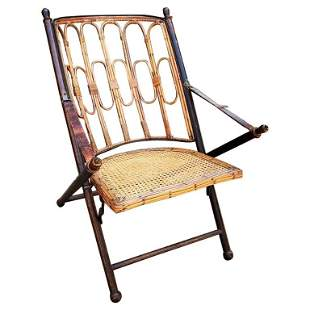 British Colonial Campaign Folding Chair, 19th Century