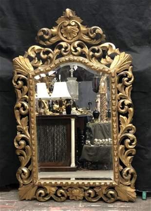 19th Century Florentine Carved Giltwood Mirror