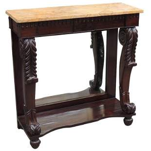 19th C American Empire Rosewood Pier Table