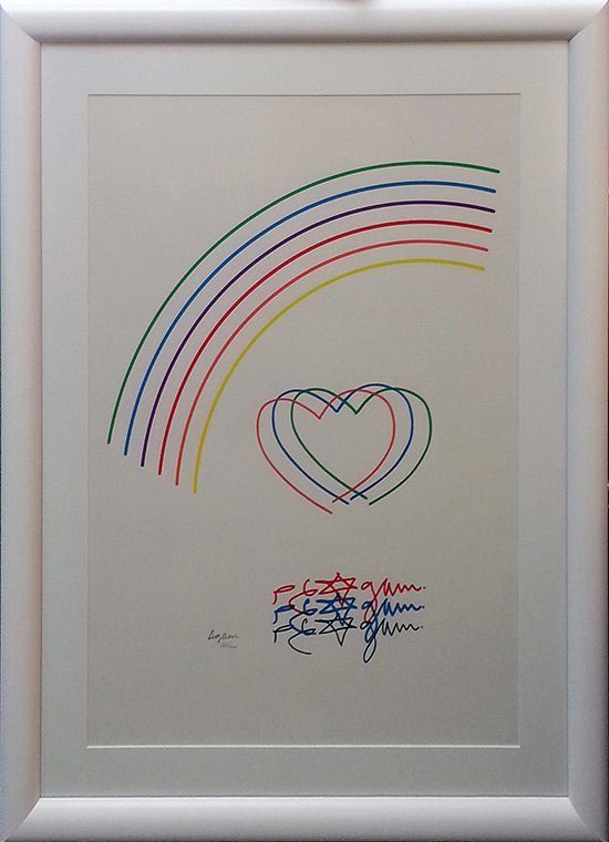 "AGAM, YAACOV ""HEART AND RAINBOW"""